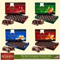 Best European Monterini Chocolates With Cherry Rum Cognac Liqueur - Roshen Candy