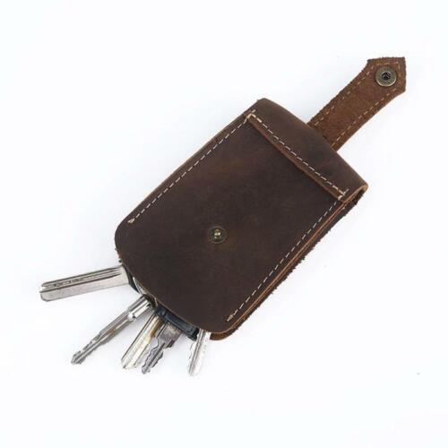 Leather Car Key Wallet Handmade Retro Key Holder Case Housekeeper Waist Bag