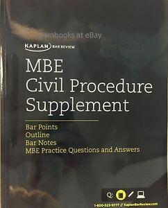 Details about 🆕✔ Kaplan PMBR MBE Fed Civil Procedure Supplement ❤✴