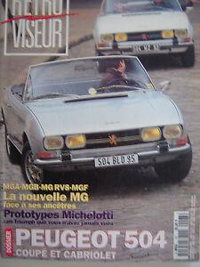 N Epuise Retroviseur N 93 Dossier Peugeot 504 Cabriolet Coupe