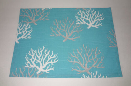 Coastal Blue Tropical Coral Reef Table Topper Table Square Centerpiece Mat