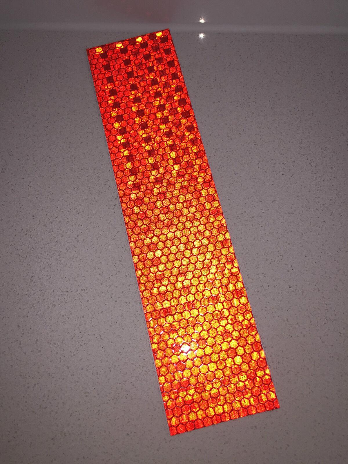 5//pk White//Silver Adhesive Reflective Tape Strip 50mm x 200mm