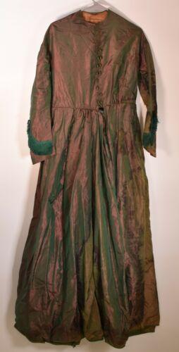 1860's Victorian Original Silk Iridescent Dress /