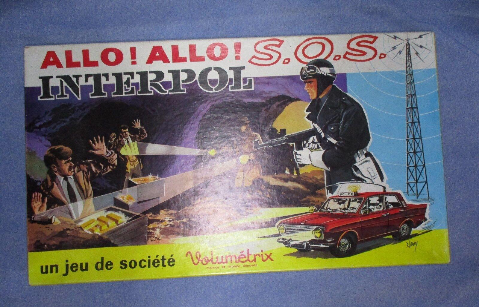 AE807 VOLUMETRIX ALLO SOS INTERPOL JEU SOCIETE SUPERBE ETAT POLICE