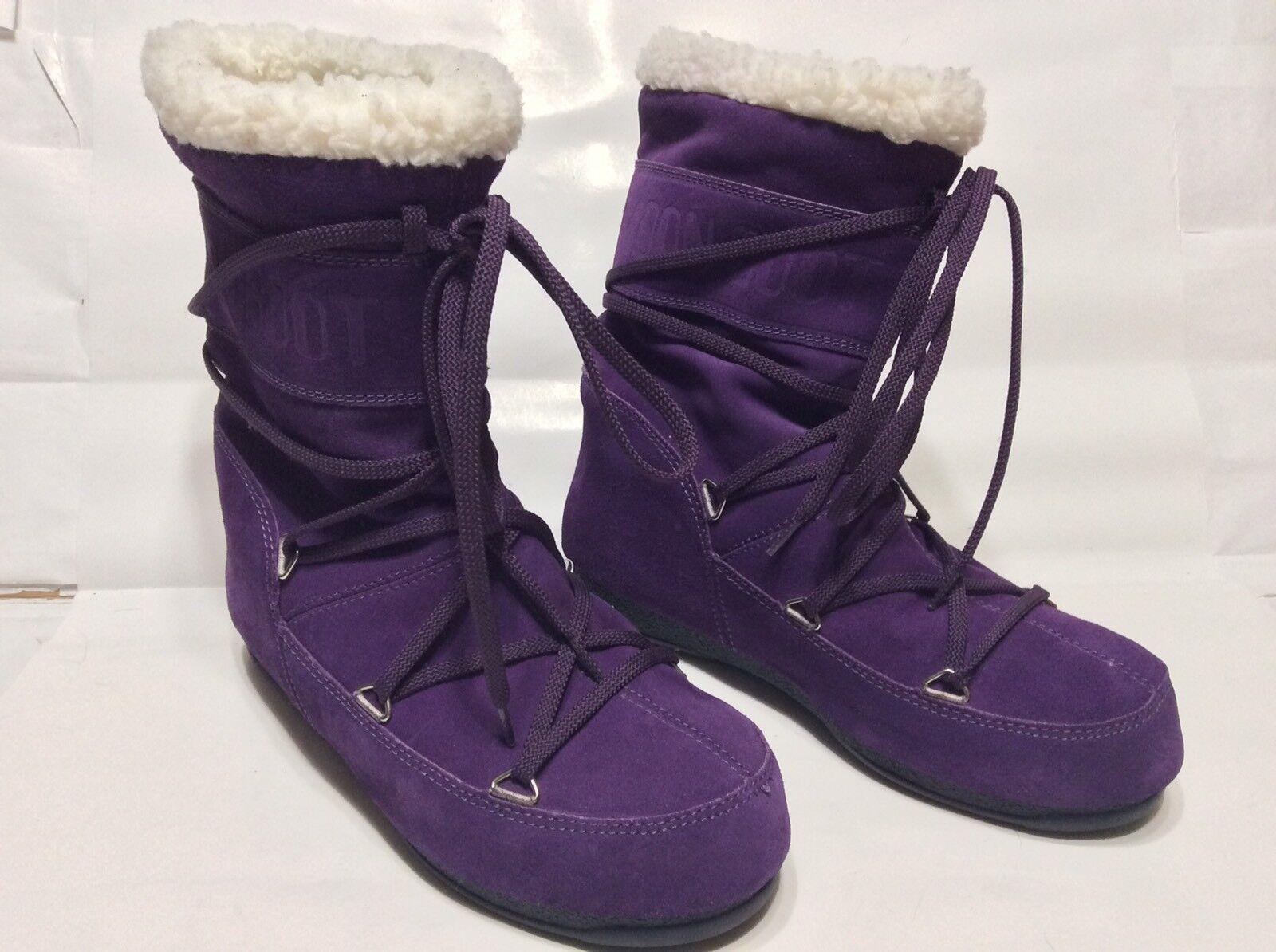 Tecnica Donna Butter Mid Moon Stivali Purple Tall Size 8.5 39 8.5 Size   JBY 24c71b