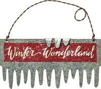 Newwinter Wonderland Tin Christmas Icicle Ornamentmetal/sign/country