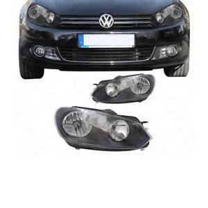 Scheinwerfer-Set-Satz-VW-Golf-VI-6-1K-AJ5-Bj-08-13-H7-H15-inkl-Stellmotoren