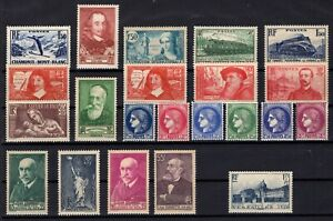 PP134202-FRANCE-LOT-1937-1938-MINT-MNH-FULL-SETS-CV-238