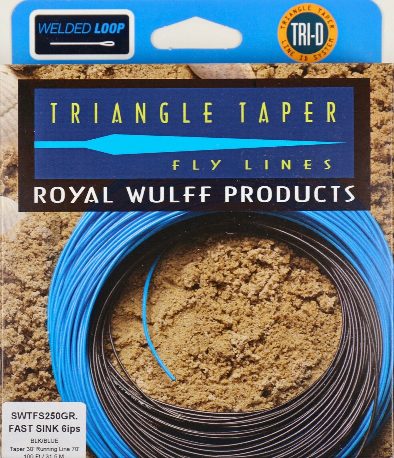 Royal Wulff Triangle Taper Fast Sink Saltwater 250 Grain Fly Line Free Fast Ship