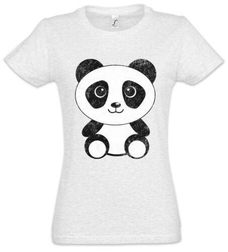 Panda I Damen T-Shirt Bear Comic Look Cutie Cute