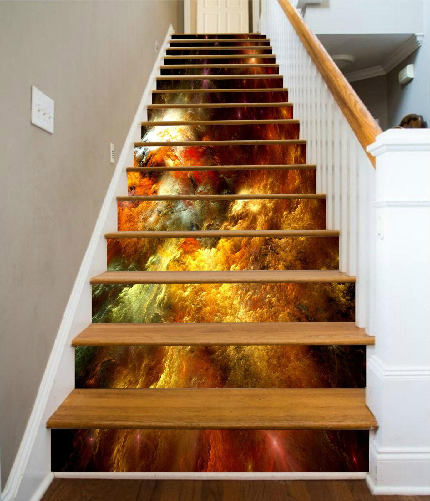 3D Farbe Malerei 79 Stair Risers Dekoration Fototapete Vinyl Aufkleber Tapete DE
