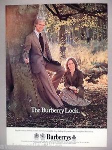 Look Burberrys ~~ englische Printwerbung 1977 Somerley Landkleidung Burberry ffv0Uwq