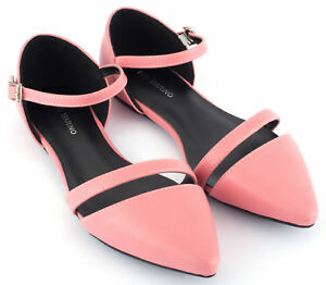 cf7d479cd9a5 Mio Marino D Orsay Pointed Toe Flats - Womens Ankle Strap Dress ...