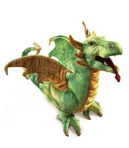 Wyvern Dragon Puppet w/ Movable Mouth, Folkmanis MPN 2812, 3 & Up, Boys & Girls