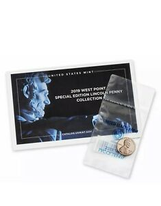 2019-W-BU-Uncirculated-LINCOLN-CENT-FROM-THE-Mint-SET-3rd-WEST-POINT-W-COA