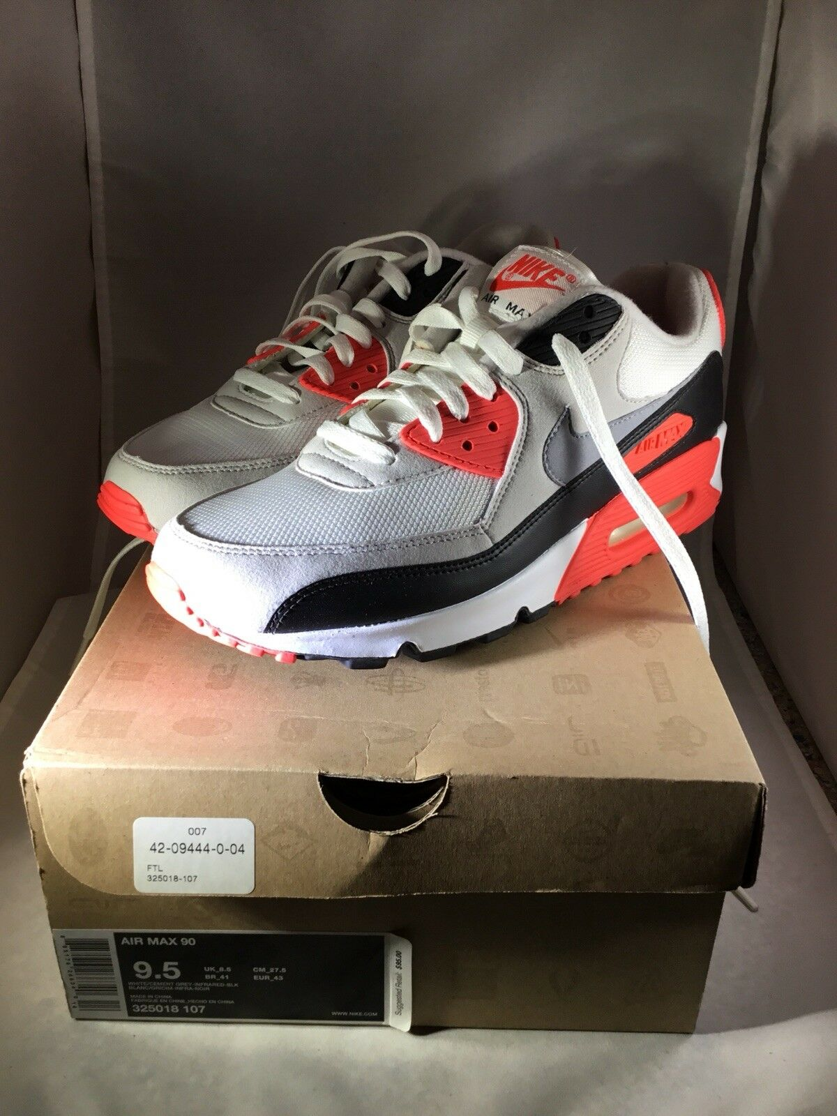 sports shoes a4b78 cc858 ... shopping 2010 cemento nike air max nike 90 cemento blanco gris blanco  infrarrojo negro 325018 107