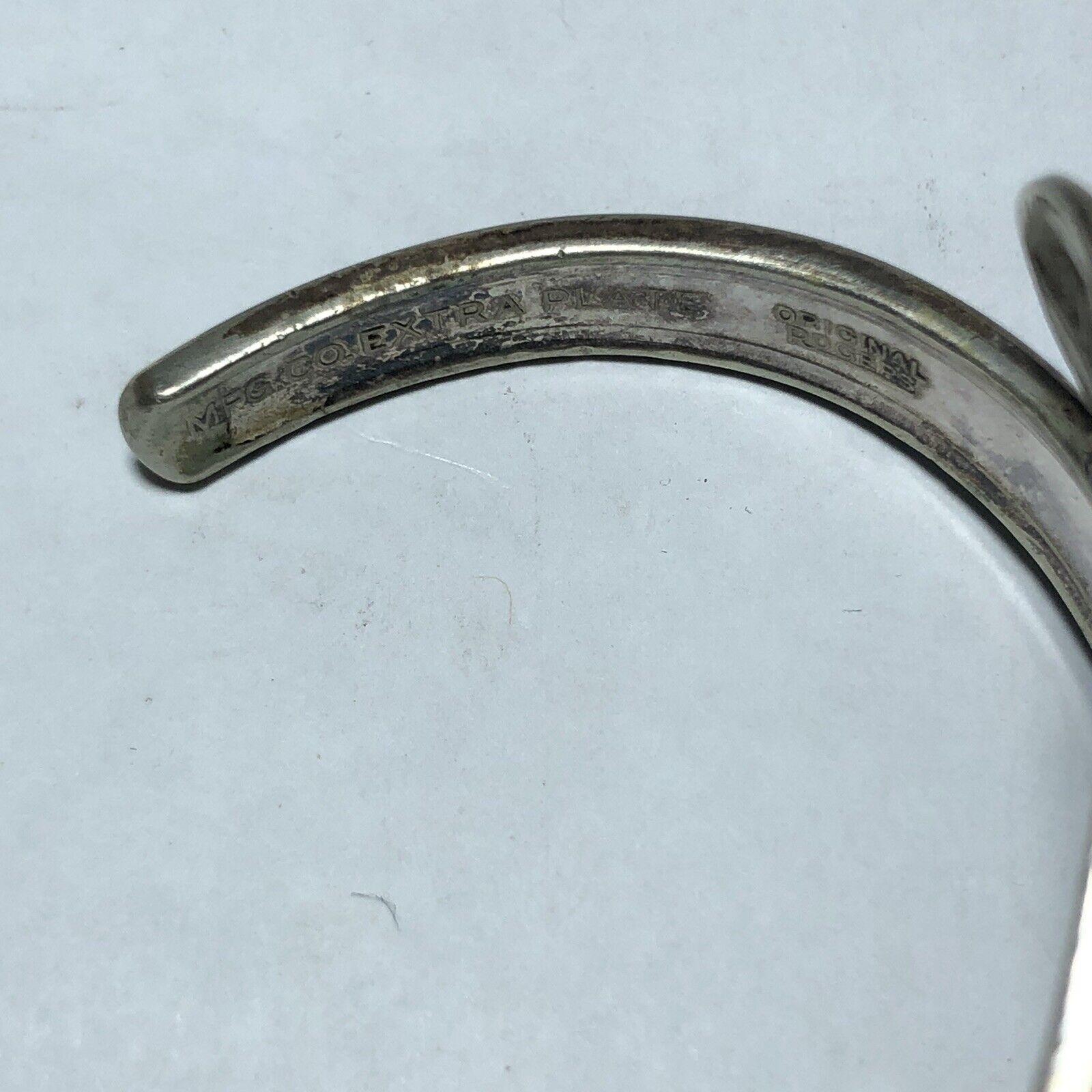 Wm Rogers Extra Plate Vintage Cuff Bracelet Origi… - image 3