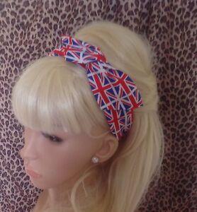 UNITED KINGDOM BRITISH UNION JACK FLAG PRINT COTTON BENDY WIRE HAIR ...