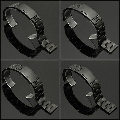 18/20/22/24mm Stainless Steel Solid Links Watch Band Strap Bracelet Straight End