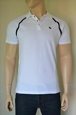 NEW Abercrombie & Fitch Vintage Sport Polo Shirt White Moose L