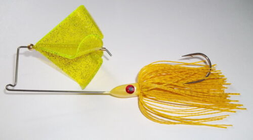 "1 Golden Yellow -Bass Fishing -/""NEW/"" 1//2 Oz Custom Topwater Buzzbait Lure -"
