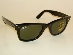 d787ee601e New RAY BAN Original WAYFARER Sunglasses Black RB 2140F 901 G-15 ...