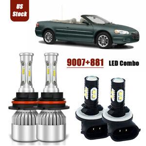 LED Headlight Bulb Low Beam Kit 9006 6000K White For 2003-2005 Chrysler Sebring