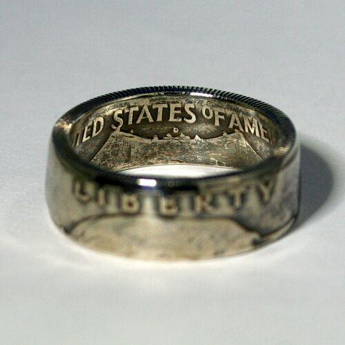 USA Size 8-13 1//2 Liberty 1951 Silver COIN RING Ben Franklin Half Dollar