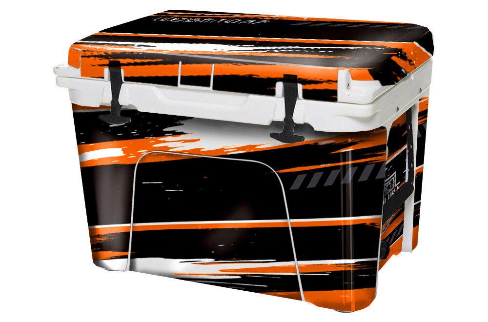 USATuff Custom Cooler Decal Wrap YETI fits YETI Wrap Tundra 125qt FULL RZR SxS Orng 217e4d