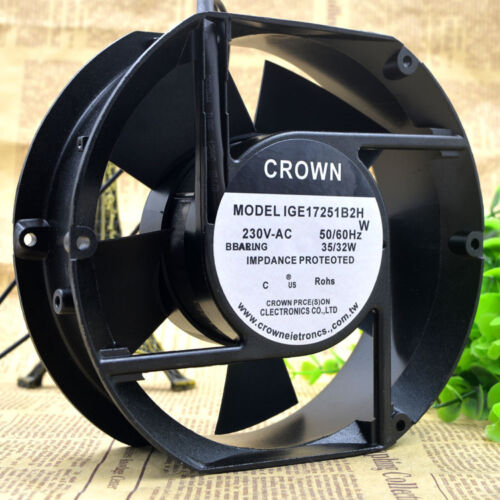 CROWN 220V 17251 IGE17251B2H 17cm 35W axial fan cabinet cooling fan