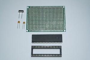 Dspic 30F4013-20 i//p mcu kit matrice pcb ic socket 16MHZ crystal 22pF condensateurs