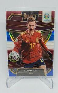 2020 PANINI SELECT UEFA EURO Fabian Ruiz Spain Red While Blue SP