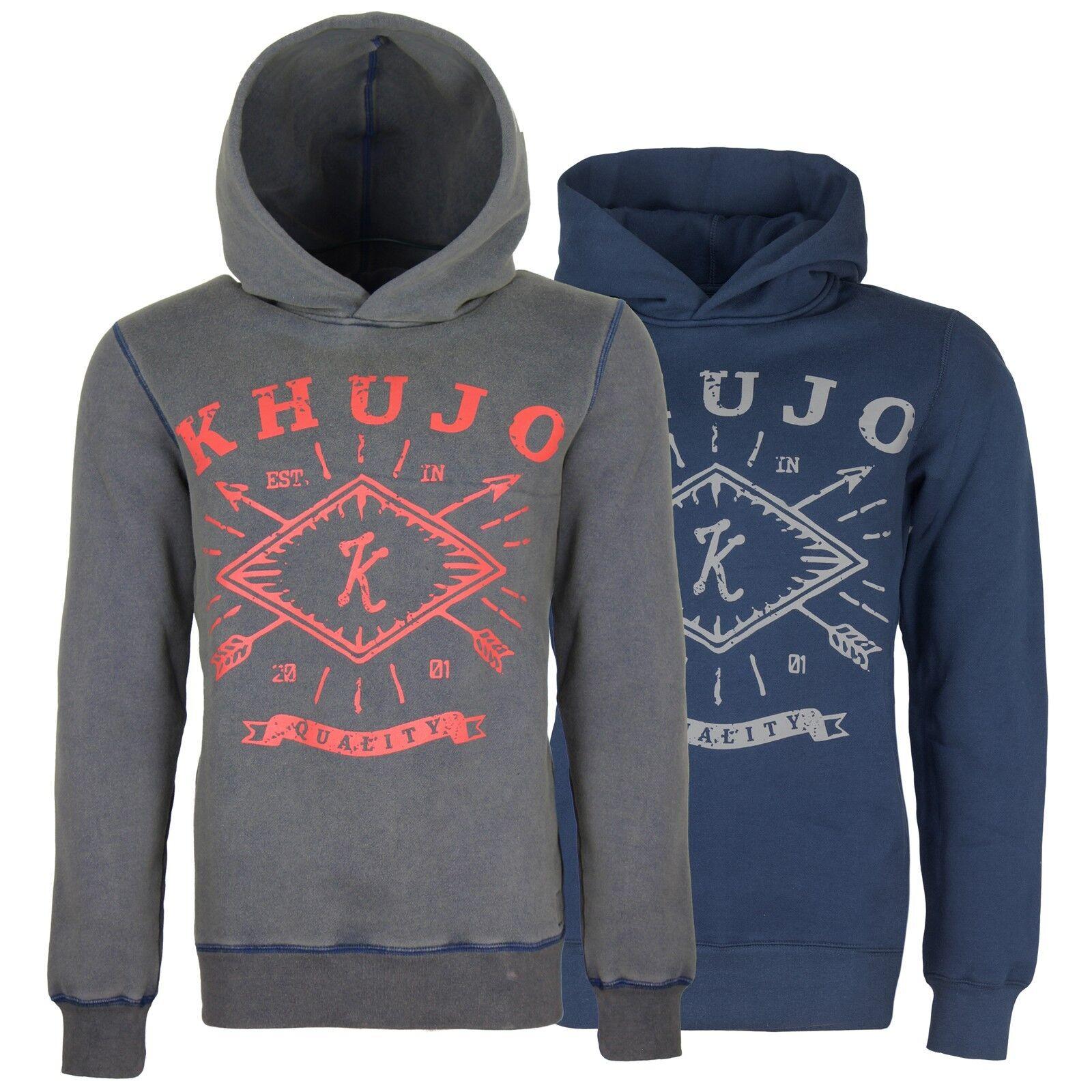 Khujo Herren Pullover Kapuzenpullover Kapuze Herrenpullover Hoody Sweatshirt