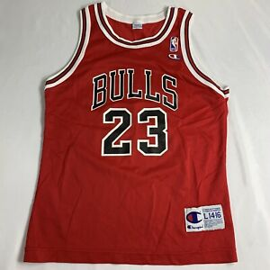 new styles 5c182 c7a84 Details about Vintage Michael Jordan Jersey Chicago Bulls #23 Champion NBA  Youth M 10-12
