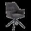 Niehoff Schalensessel Tapas 6432 drehbar Bezug anthrazit Stativgestell schwarz