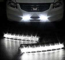 2pcs Car 8 LED Super White DRL Driving Daytime Running Day LED Light Head Lamp