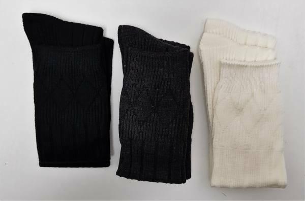 Scottish Wool Mix KIDS Kilt Socks Black Ecru Charcoal SALE