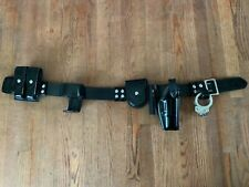 High Gloss Leather Police Duty Belt With Pouches
