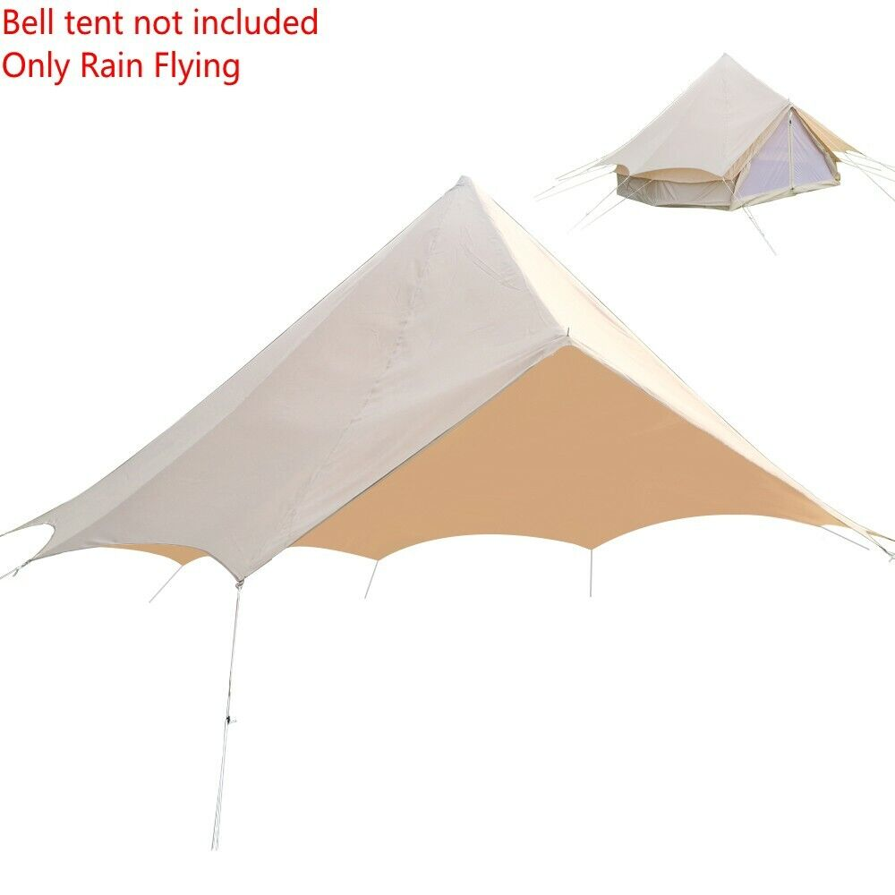 Rain Flying 3M 4M 5M 6M 7M Bell Tent Prossoector No Central Poles Waterresistance