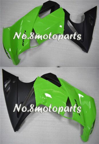 Fit for 2009-2011 Kawasaki Ninja 650R ER-6F Left Right Side Fairings Green Black