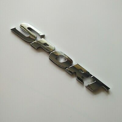 Silver 3D TURBO word letter sport sticker car metal chrome logo emblem