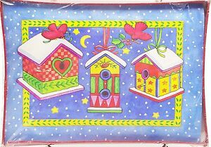 Christmas-Holiday-Cards-Festive-Birdhouses-and-Cardinals-20-count-New