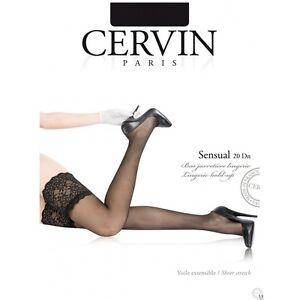 Bas-nylon-autofixant-revers-en-dentelle-reference-Sensual-de-la-marque-Cervin