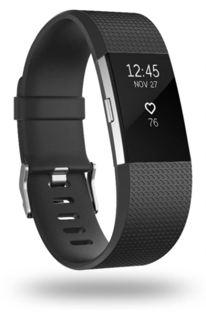 Fitbit Charge 2 Heart Rate Fitness Wristband Black Small Fb407sbks for sale online
