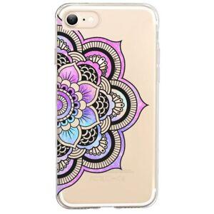 Coque Iphone 7 8 SE 2020 mandala 1 rose pastel