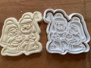 Christmas cookie cutter Jesus cookies Nativity scene Nativity cookie press