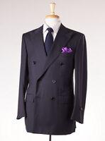 $3995 D'avenza Charcoal-light Gray Stripe Super 130s Wool Suit 40 R Handmade on Sale