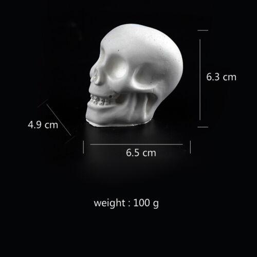 Human Art Skull Mold Reusable DIY Resin Gypsum Concrete Cement Handmade Silicone