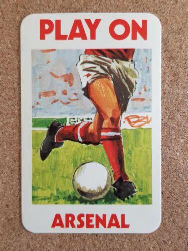 Palitoy Top equipo Arsenal Football Club solo jugando a las cartas-varios jugadores