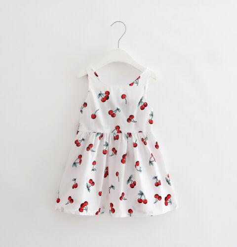 Summer Clothes Baby Girl Newborn Toddler Cotton Sleeveless Dress Outfits Skirt